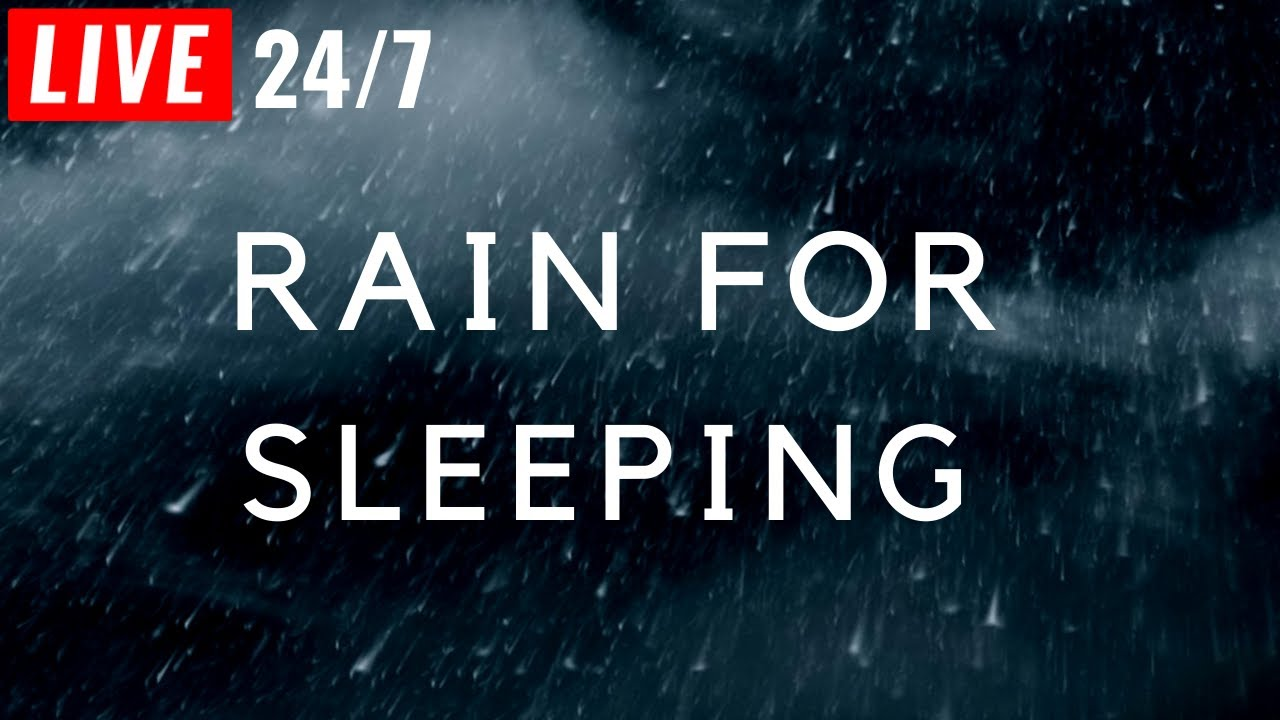 🔴 Soothing RAIN 24/7, Rain Sounds for Sleeping, Studying, Relaxing,