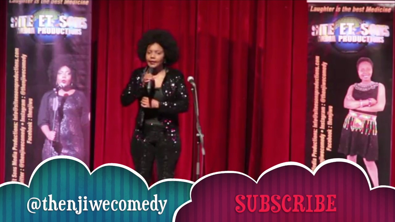 South African comedian Thenjiwe performing stand up comedy part 1