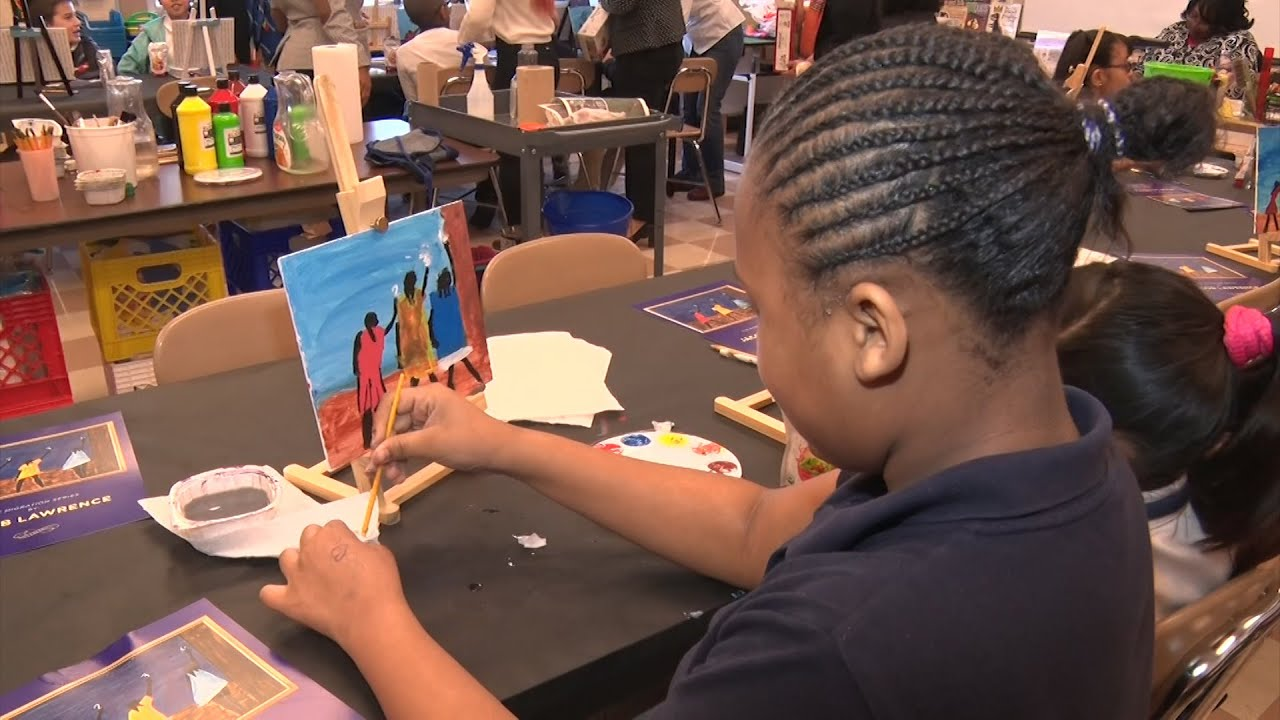 Students learn about black history through African American artists