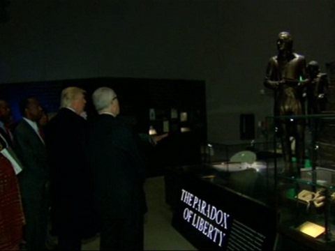 Trump Visits African American History Museum