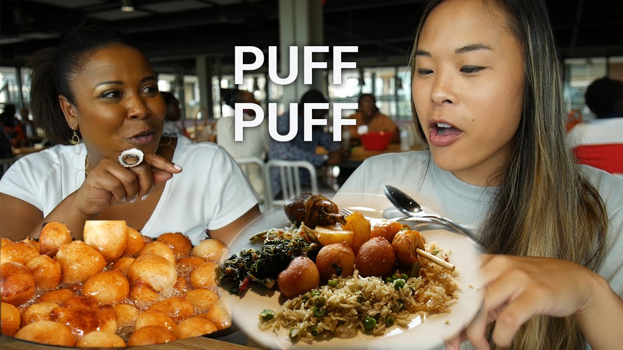 Trying Puff-Puff and West African Food for the 1st time!
