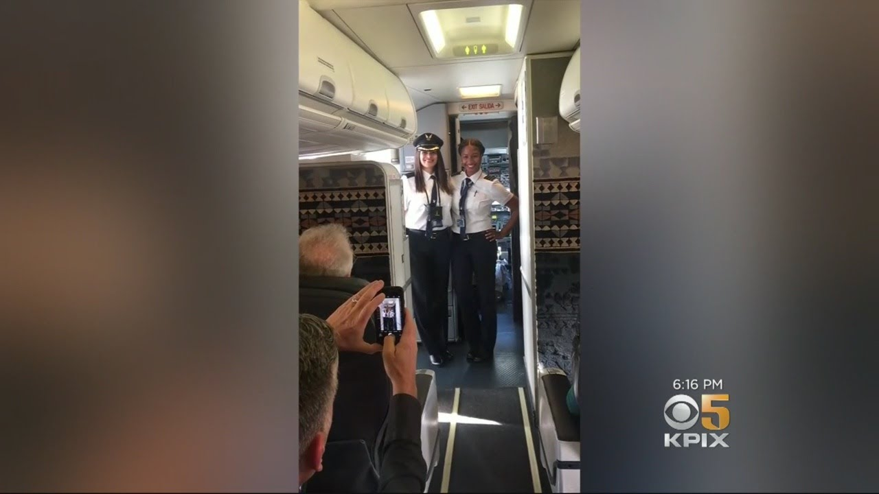 Two Female African-American Pilots Applauded After Historic First Flight For