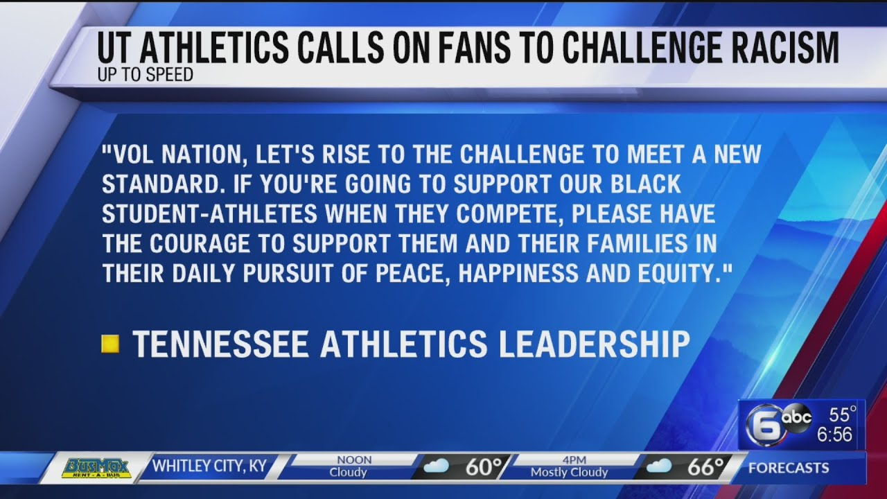 Vols coaches call on fans to support black athletes beyond
