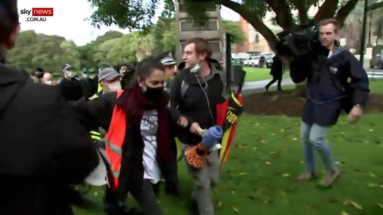 WATCH: Black Lives Matter protester arrested by police at illegal