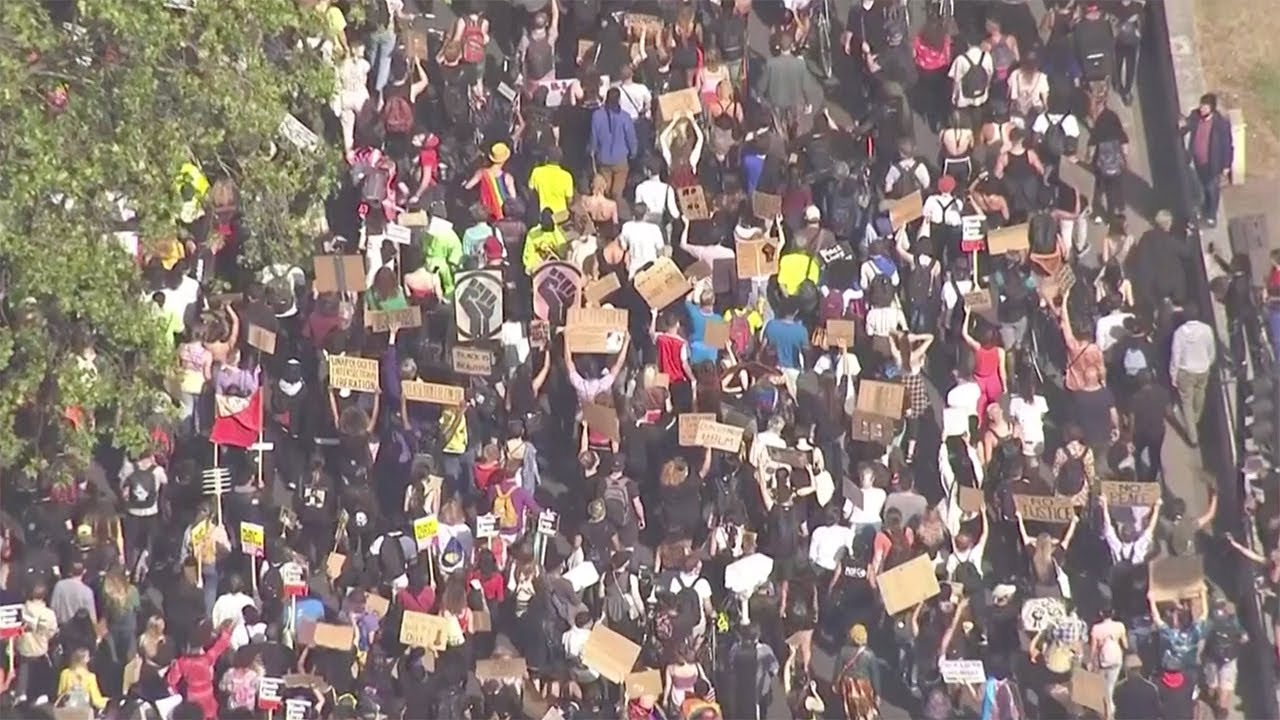 Watch again: Anti-racism protests in London | Black Lives Matter