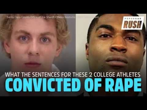 2 College Athletes Convicted Of Rape :black and white