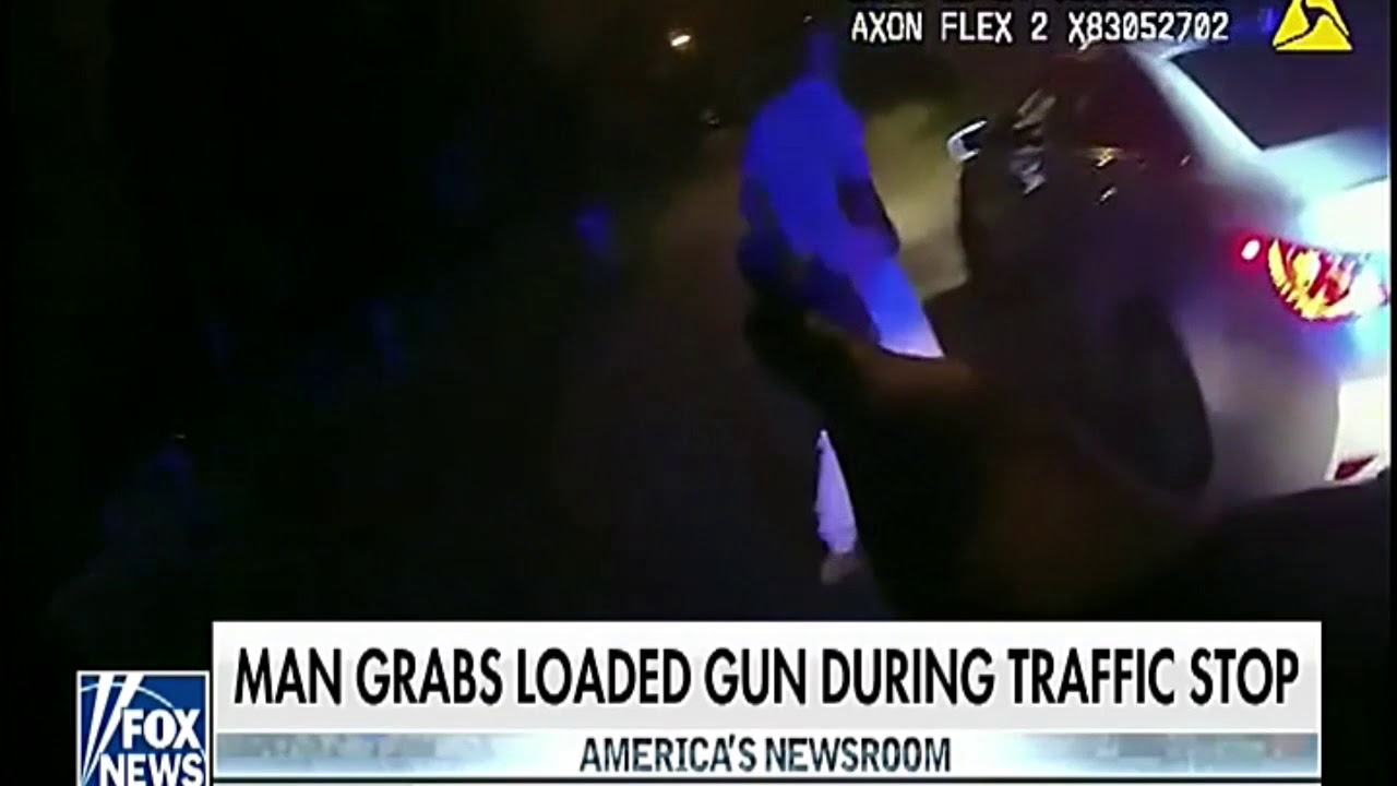 African American Man Grabs Loaded Gun During Traffic Stop And
