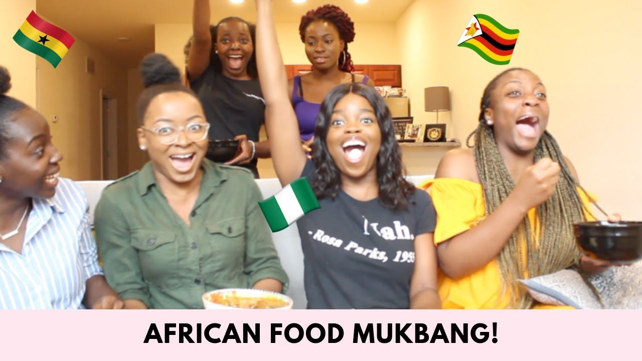 African Food Mukbang! | African Storytimes | (Pounded Yam and