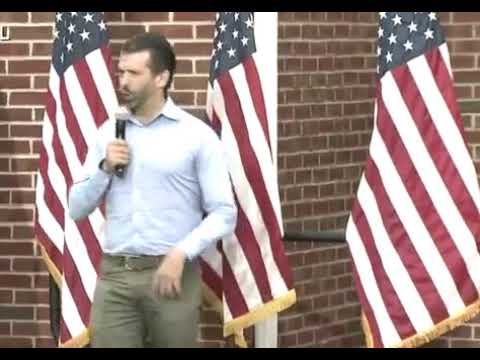 Don Trump Jr clowning rant at being a stand up