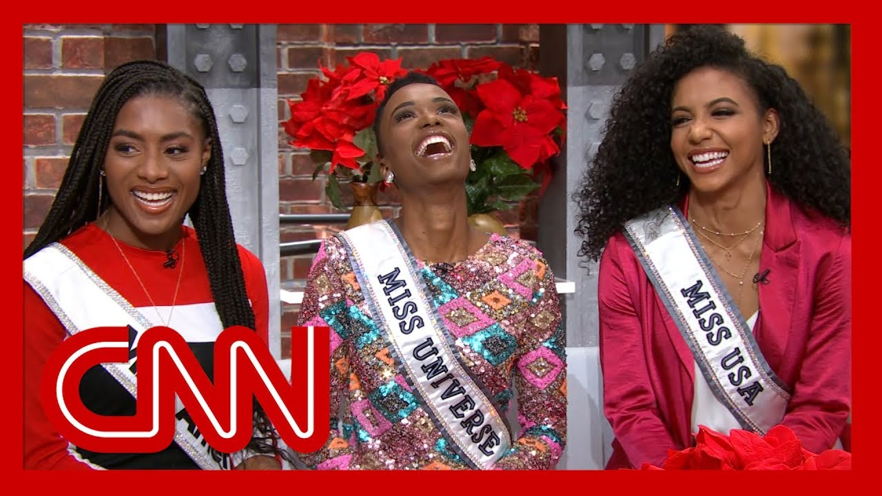 Miss America, Miss Universe, and Miss USA winners talk to