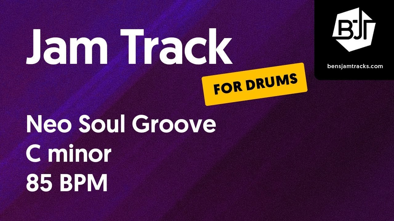 Neo Soul Groove Jam Track in C minor (for drums)