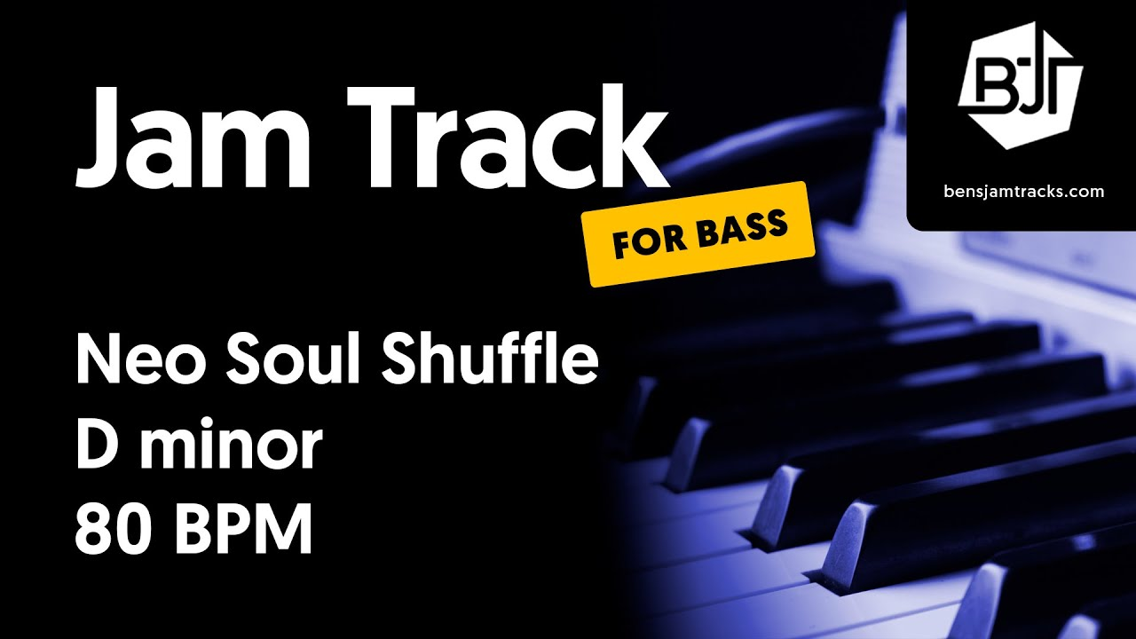 Neo Soul Shuffle Jam Track in D minor (for bass)