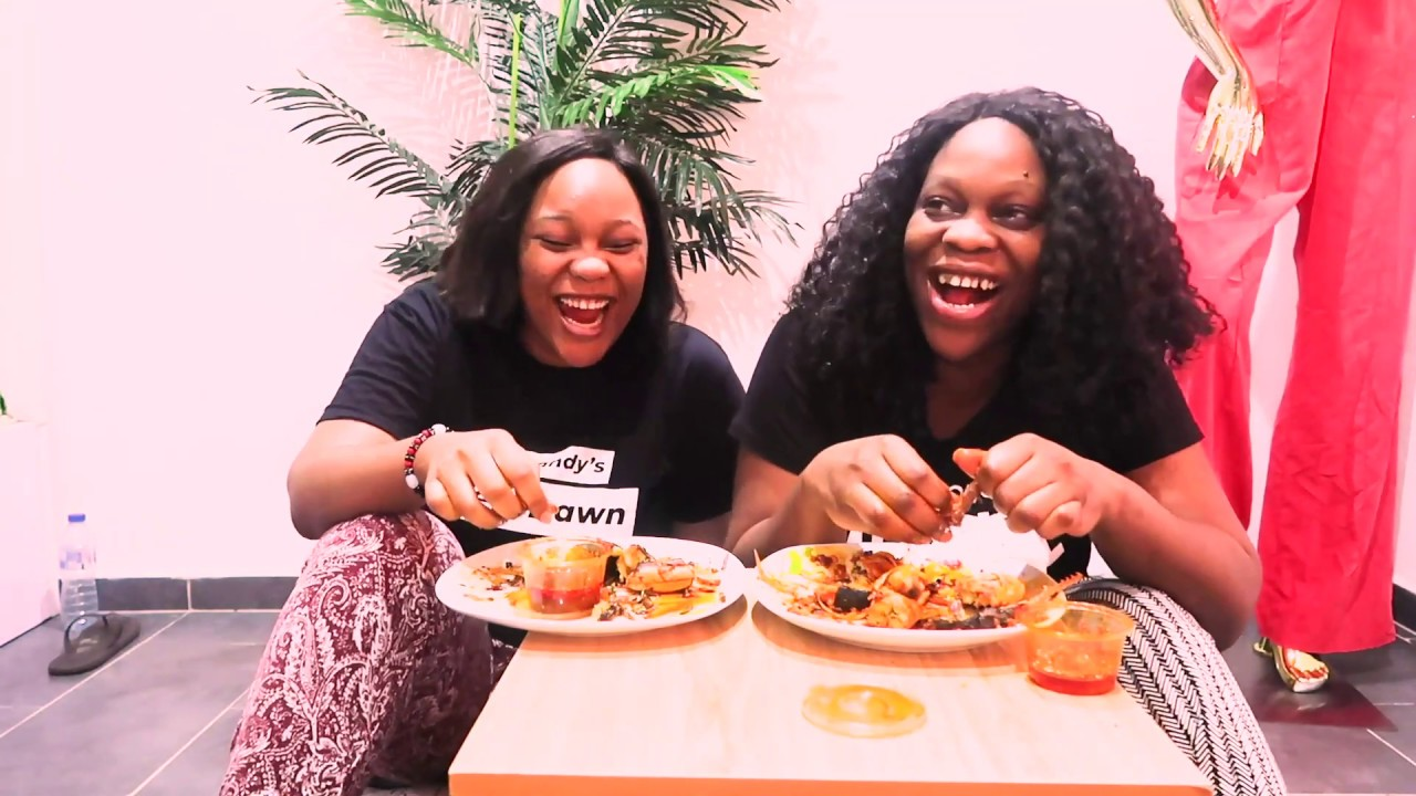 Nigerian/African food Mukbang- Roasted Yam, Fish and Chicken #1