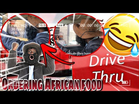 ORDERING AFRICAN FOOD/ DRIVE THRU/PART2/ MUST WATCH 🇿🇦🇿🇦🇿🇦