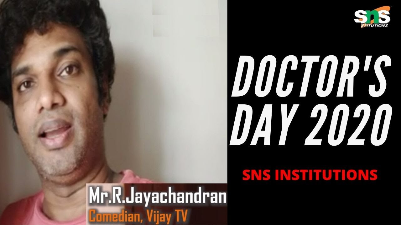 Stand-up Comedian, Star Vijay TV Mr.Jayachandran | Doctor's Day 2020