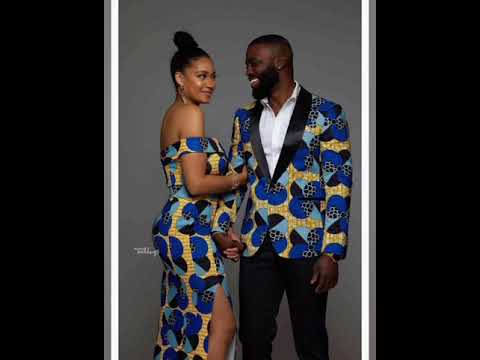 Top African couple trending fashion