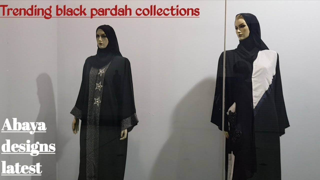 Trending abaya collections/ Latest black pardah designs