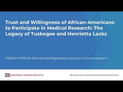 Trust and Willingness of African-Americans to Participate in Medical Research