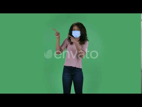 Portrait of Beautiful African American Young Woman in Medical Protective