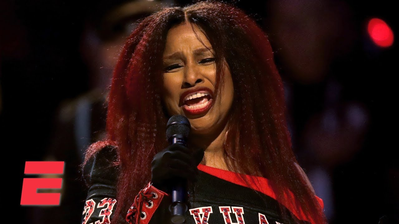 Chaka Khan sings the national anthem at the 2020 NBA