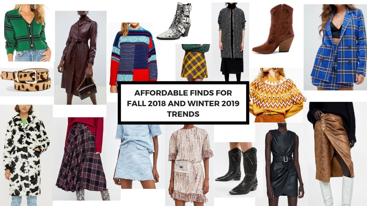 Favorite Fall 2018 and Winter 2019 Fashion Trends and Where