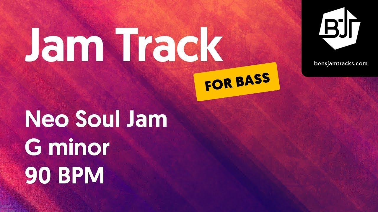 Neo Soul Jam Track in G minor (for bass) –
