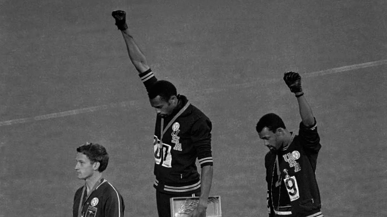 October 16, 1968 – U.S. Olympic Sprinters Protest Racial Inequality