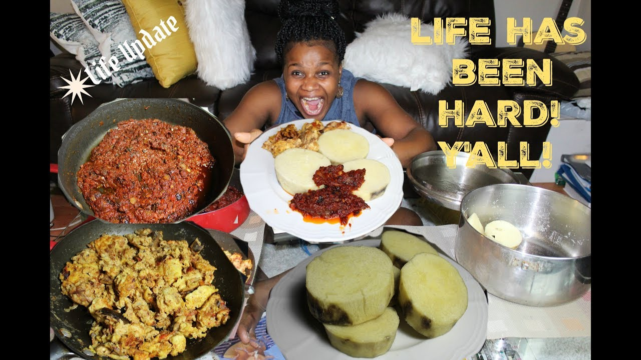 The Nigerian/African Food MUKBANG Queen is Back! #5 – Yam,