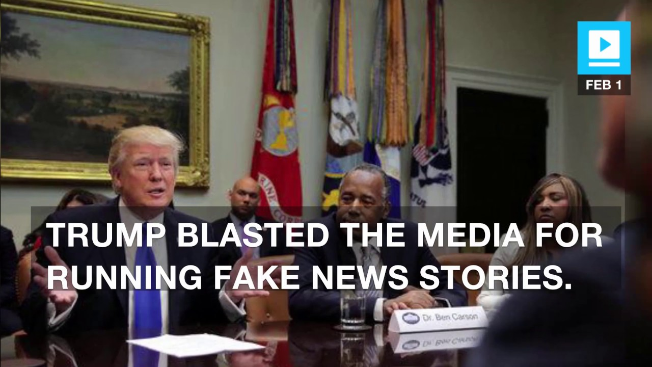 Trump attacks media for running fake news at an African-American