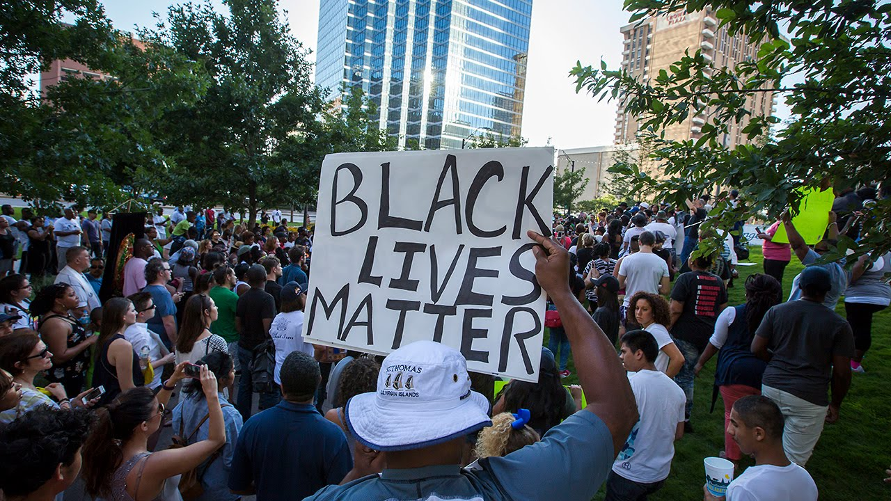 Video of Black Lives Matter Protest and Police Shooting in